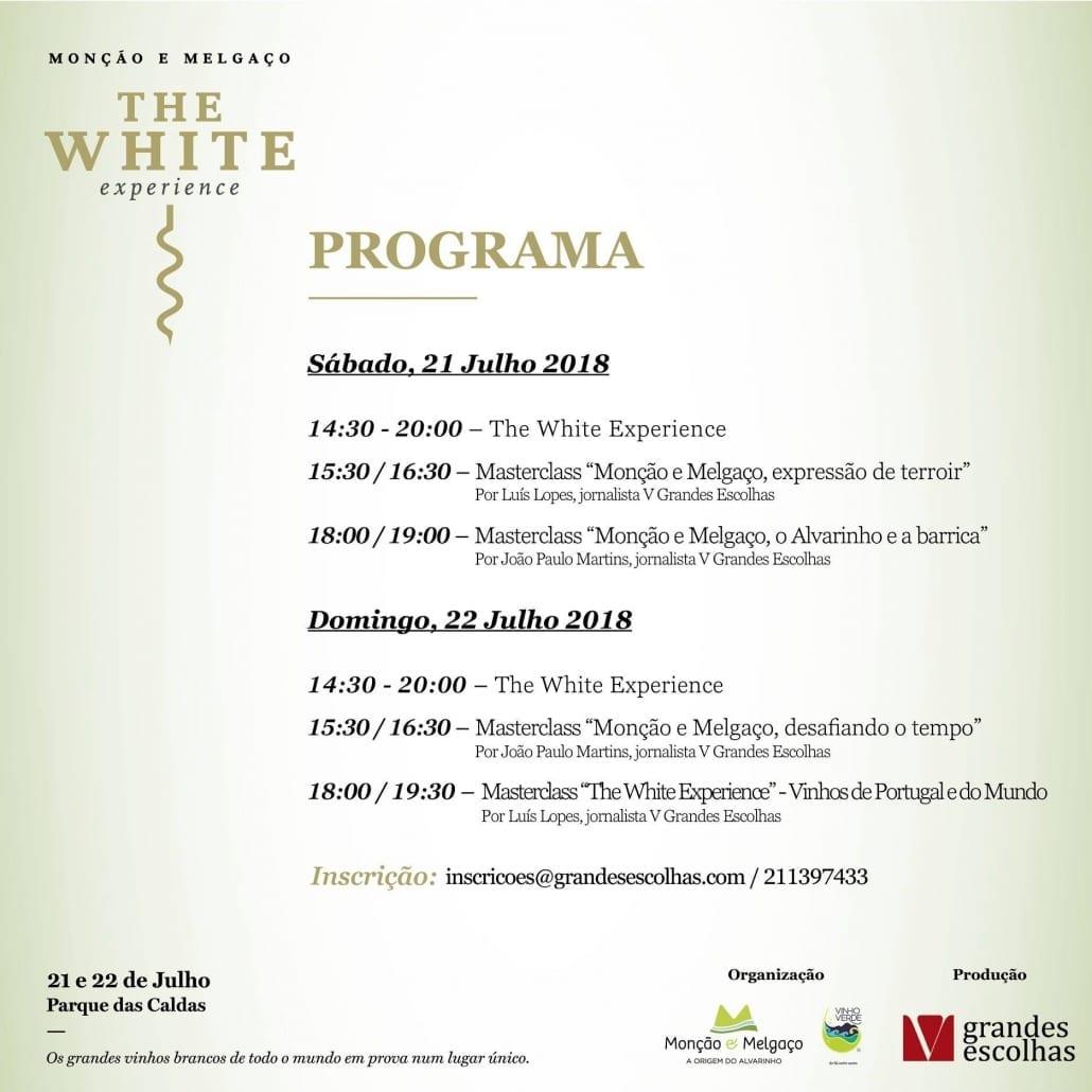 Programa The White Experience