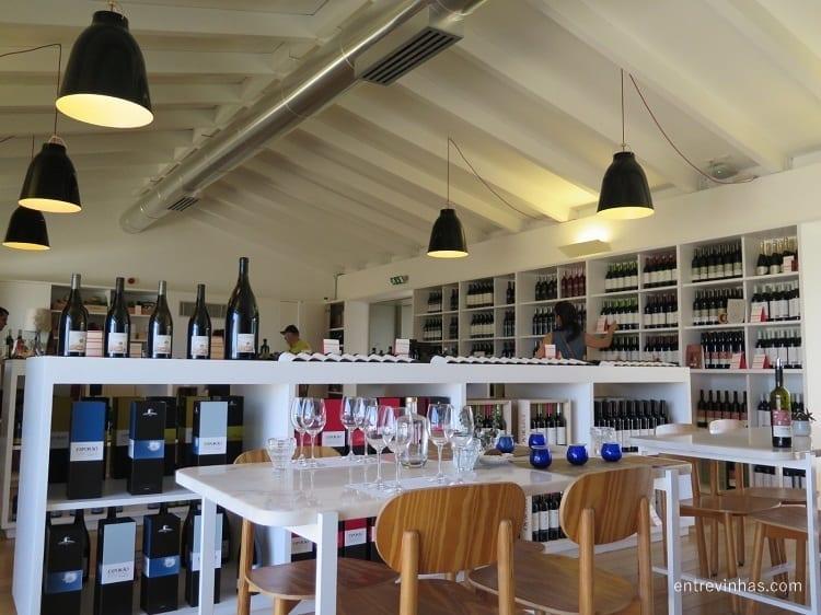 loja de vinhos Herdade do Esporão Alentejo